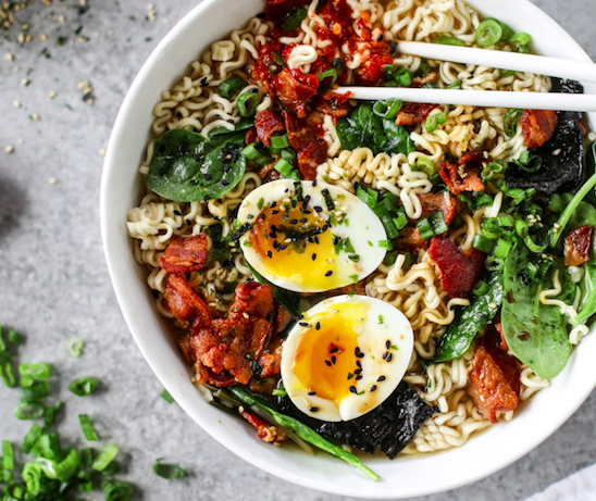 Bacon & Egg Ramin Noodles