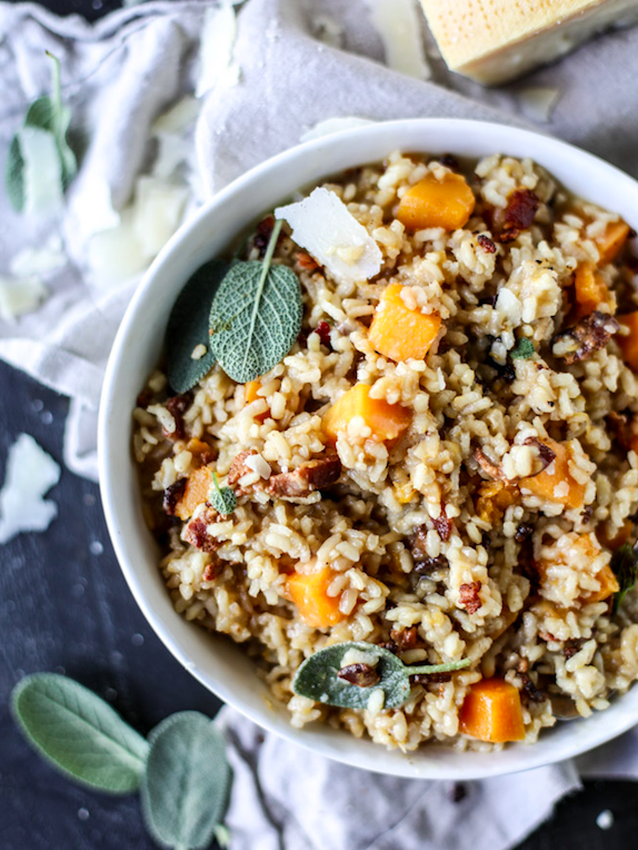 Butternut Squash & Bacon Risotto
