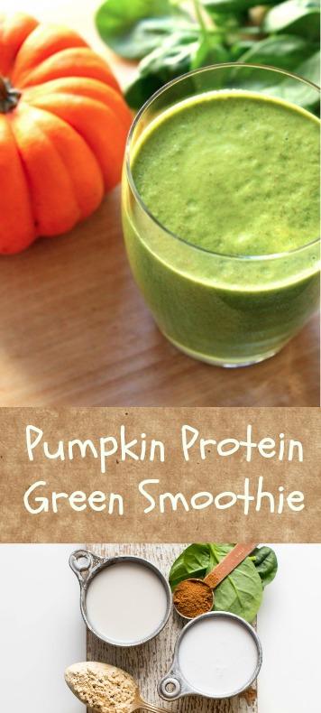 High Protein Pumpkin Green Smoothie