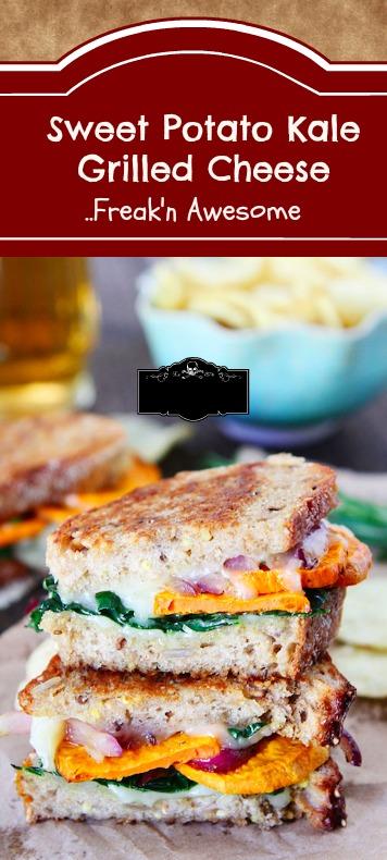 Sweet Potato Kale Grilled Cheese Sandwich