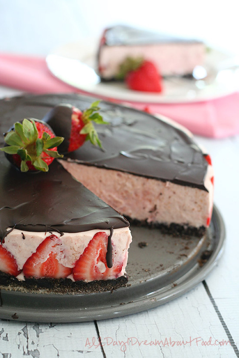 Chocolate Covered Strawbeery Cheesecake - Keto Friendly