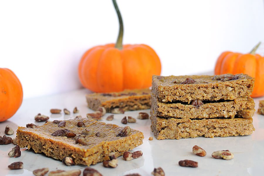Keto Pumpkin Pie Blondies