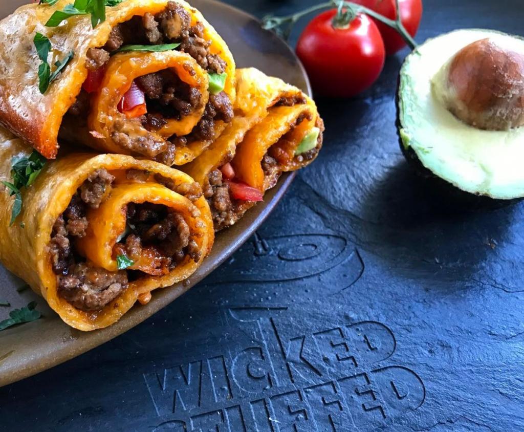 Cheddar-Wrapped Taco Rolls