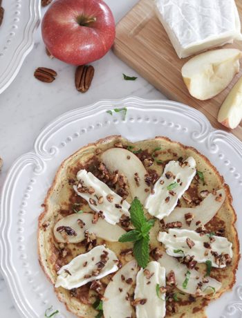 Brie & Apple Crepes