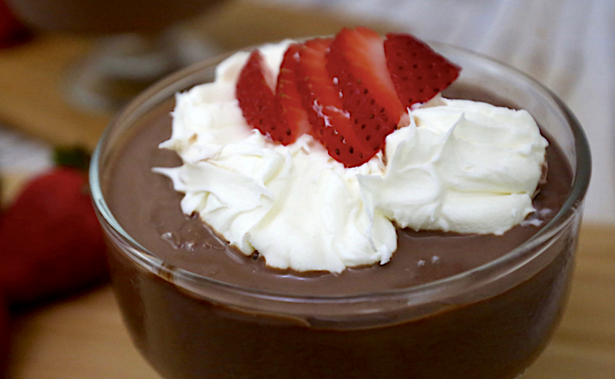 Low Carb Chocolate Pudding Cup