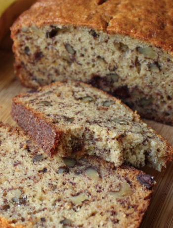 Keto Banana Walnut Bread Recipe