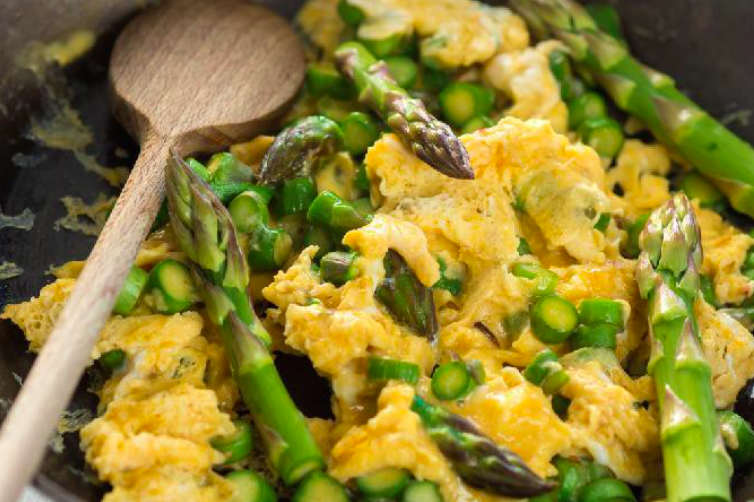 Roasted Asparagus & Eggs