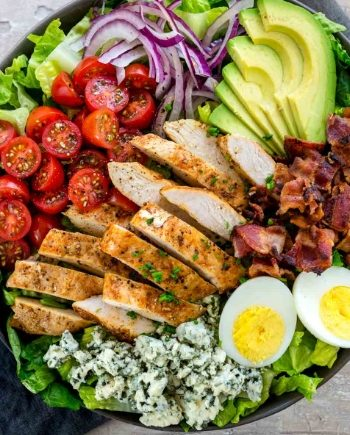 Keto Avocado Cobb Salad