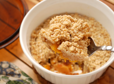 Keto Banana and Peach Cobbler