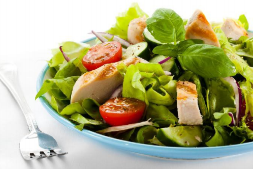 Keto Basil, Chicken, and Tomato Salad