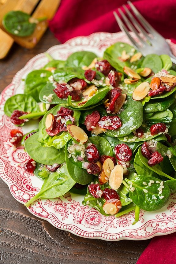 Keto Cranberry Spinach Salad