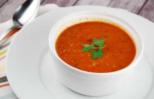 Keto Roasted Peppered Tomato Soup