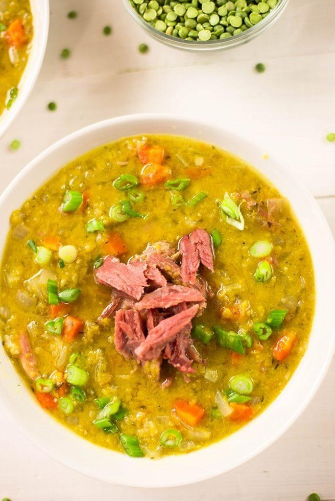 Keto Slow Cooker Split Pea Soup