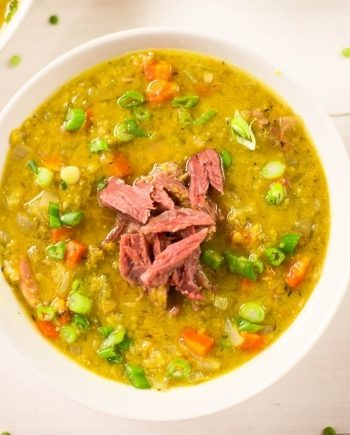 Keto Slow Cooker Split Pea Soup