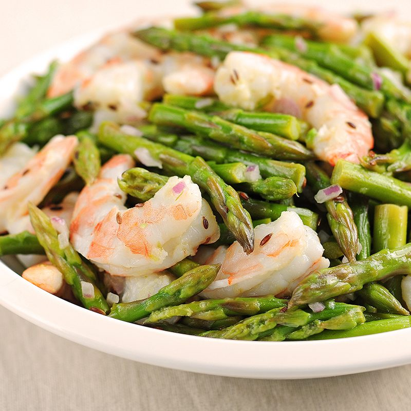 Low Carb Asparagus and Shrimp Salad