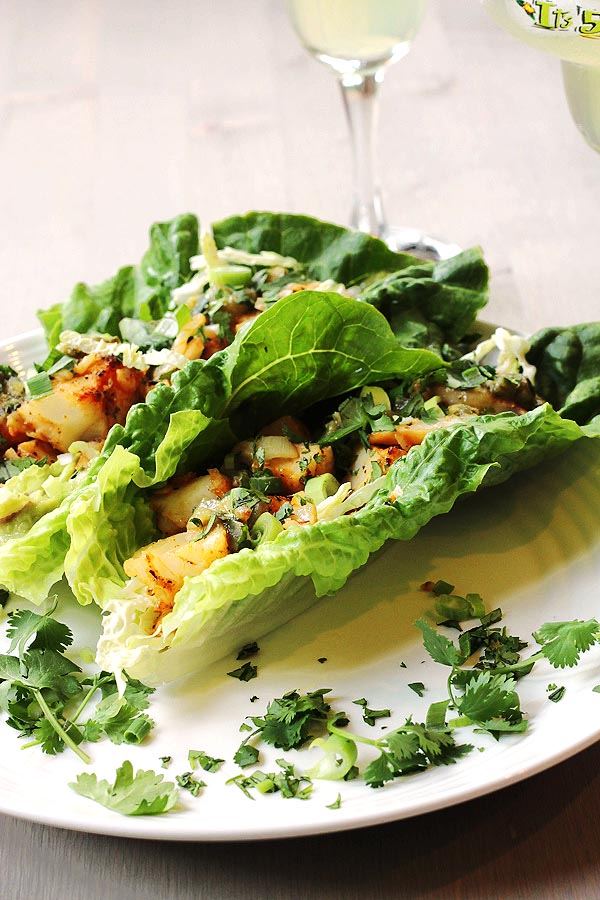 Low Carb Fish Taco Lettuce Wraps