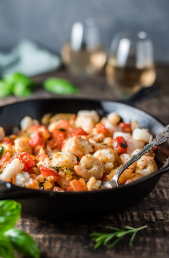 Low Carb Herbed Shrimp and Tomatoes
