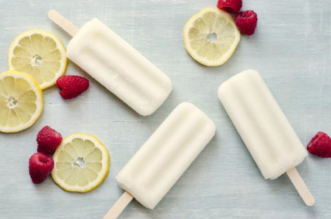 Low Carb Raspberry Lemon Popsicles