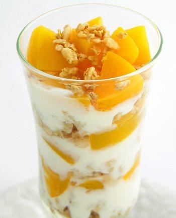 Sugar Free Keto Peach Melba Parfait