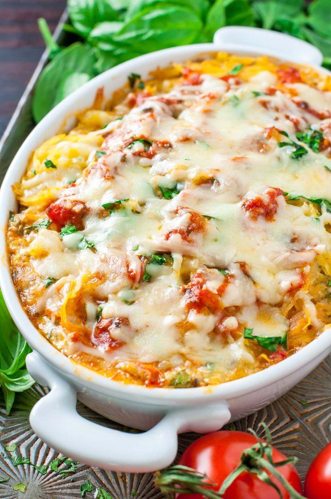 Keto Spaghetti Squash Lasagna Casserole