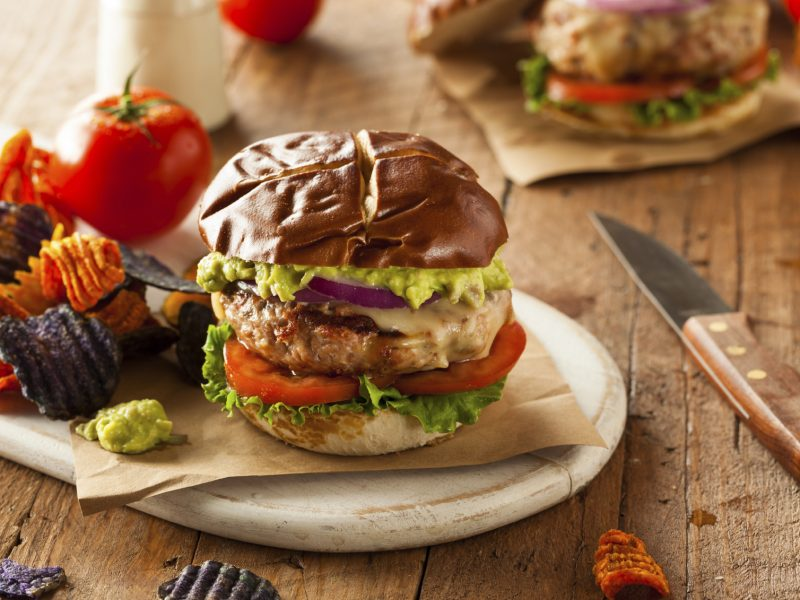 Low Carb Portobello Turkey Burgers