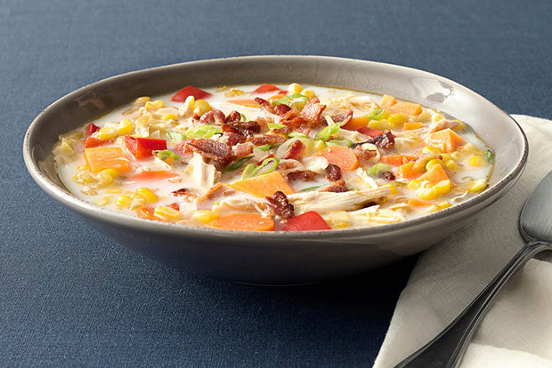 Keto Bacon & Turkey Chowder