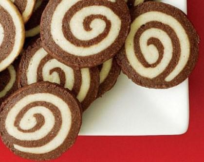 Keto Chocolate Pinwheel Cookies