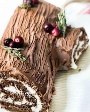 Keto Yule Log Cake