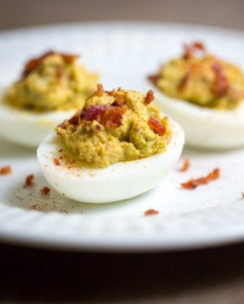 Low Carb Avocado Deviled Eggs