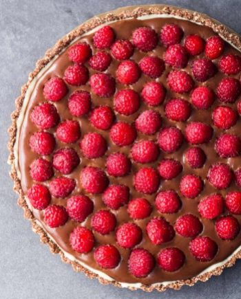 Low Carb Chocolate Raspberry Tart