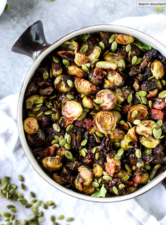Mustard Bacon Brussels Sprouts