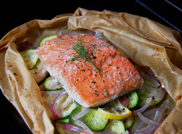 Baked Salmon in Parchment