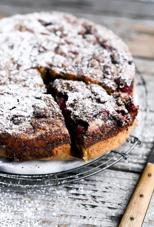Paleo Gluten Free Cranberry Coffee Cake