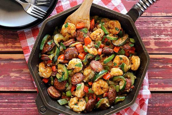 Paleo Shrimp & Sausage For Dinner