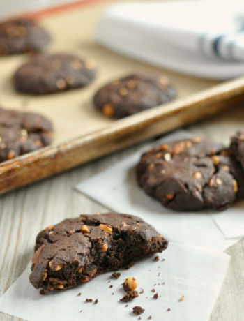 Chocolate Peanut Butter Bacon Cookies 2