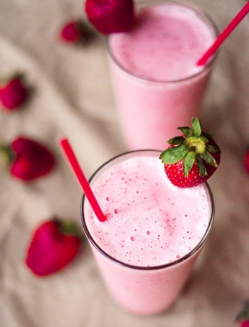 Low Carb Strawberry Shake