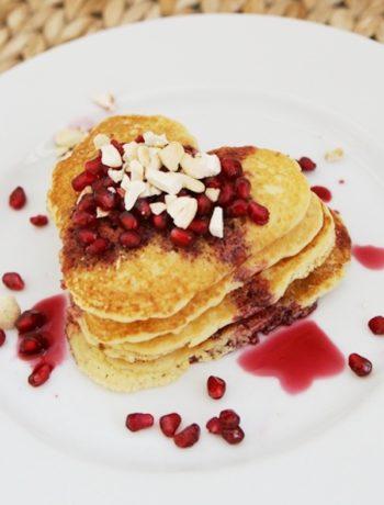 Keto Valentines Pancakes