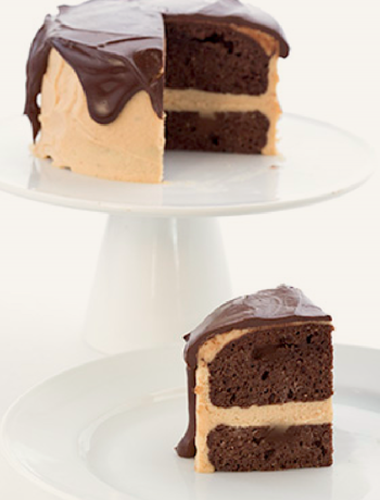 Low Carb Mini Peanut Butter Chocolate Layer Cake