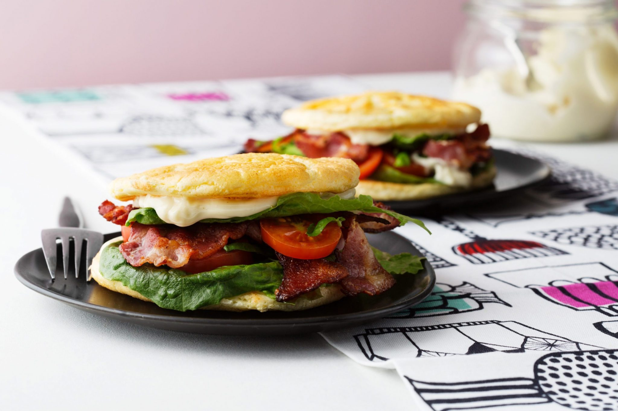 Bacon Lettuce and Tomato with Oopsie Bread