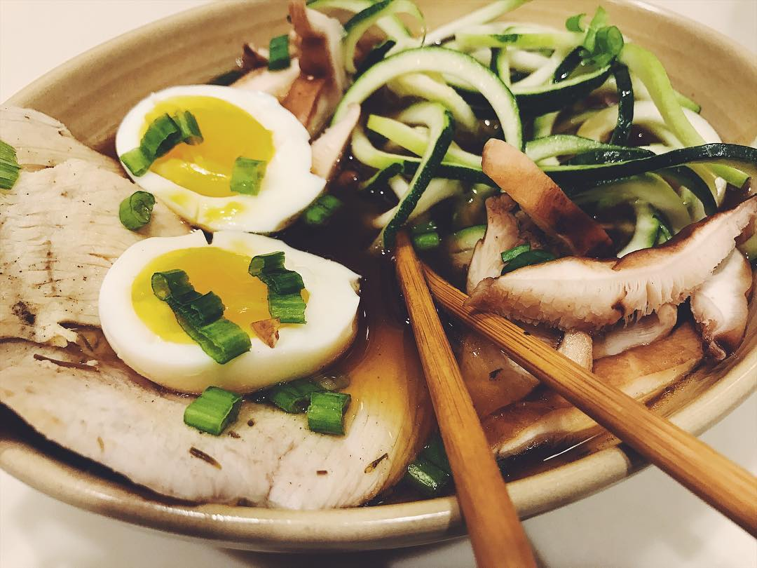 Thanksgiving Turkey Ramen with Zoodles