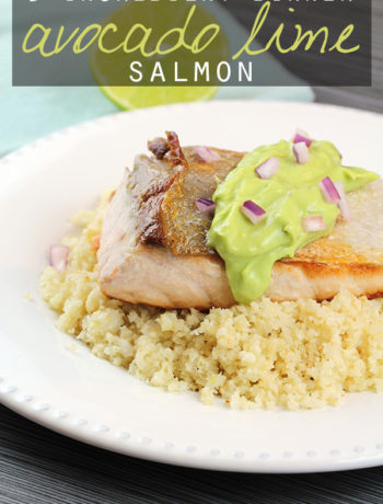 5 Ingredient Avocado Lime Salmon