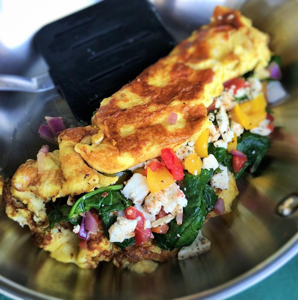 Cheesy Italian Omelete
