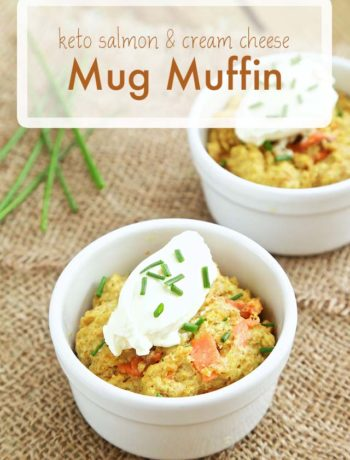 Keto Salmon & Cream Cheese Mug Muffin