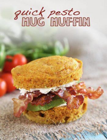 Quick Pesto Mug Muffin