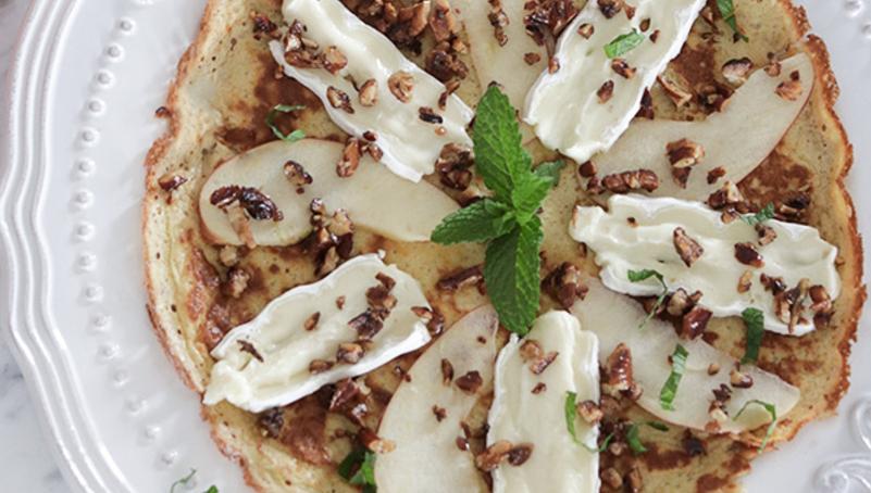 Brie & Apple Crepe Breakfast