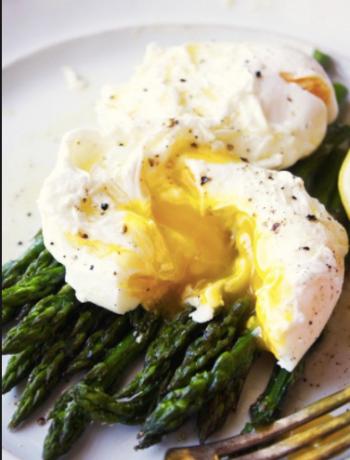 Roasted Asparagus Eggs & Hollandaise