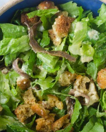 Keto Anchovy Caesar Salad
