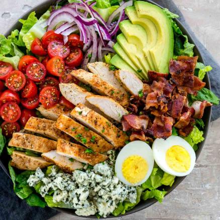 Keto Avocado Cobb Salad