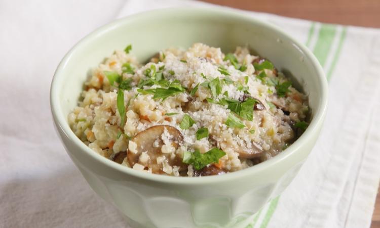 Keto Cauliflower Mushroom Risotto
