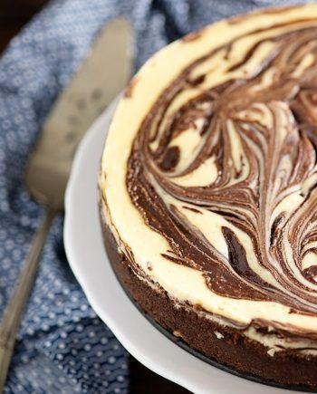 Keto Chocolate Swirl Cheesecake